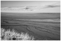 Medano Creek and dunes. Great Sand Dunes National Park and Preserve ( black and white)