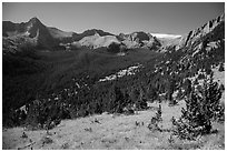 Tijeras Peak, Music Mountain, and Milwaukee Peak. Great Sand Dunes National Park and Preserve ( black and white)