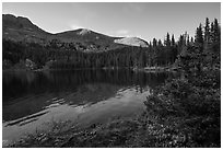 Sand Creek Lake. Great Sand Dunes National Park and Preserve ( black and white)