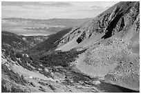 Medano Lakes from above. Great Sand Dunes National Park and Preserve ( black and white)
