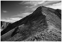 Ridge, Mount Herard. Great Sand Dunes National Park and Preserve ( black and white)