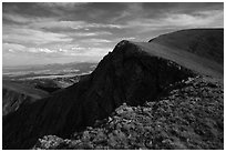 Mount Herard rounded summit. Great Sand Dunes National Park and Preserve ( black and white)