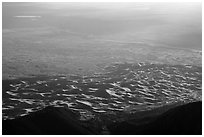 Dunes from above. Great Sand Dunes National Park and Preserve ( black and white)