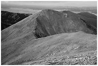 Alpine tundra slopes of Mount Herard. Great Sand Dunes National Park and Preserve ( black and white)