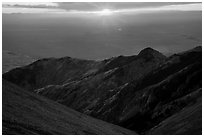 Sunset from Mount Herard. Great Sand Dunes National Park and Preserve ( black and white)