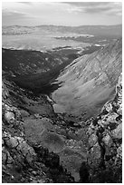 Medano Lakes from Mount Herard. Great Sand Dunes National Park and Preserve ( black and white)