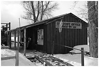 Kelly Post Office. Grand Teton National Park, Wyoming, USA. (black and white)