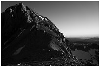Lower Saddle and Middle Teton at sunset. Grand Teton National Park ( black and white)