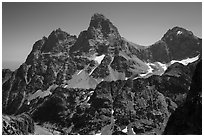 Tetons from the west. Grand Teton National Park ( black and white)