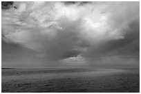 Storm cloud over ocean. Biscayne National Park ( black and white)