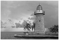 Boca Chita Lighthouse, early morning. Biscayne National Park ( black and white)