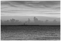 Loggerhead key at sunset. Dry Tortugas National Park, Florida, USA. (black and white)