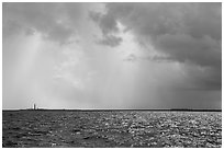 Loggerhead and Garden Key under approaching tropical storm. Dry Tortugas National Park ( black and white)