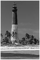 150-feet Loggerhead Light. Dry Tortugas National Park ( black and white)