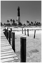 Deck and  Dry Tortugas Light Station, Loggerhead Key. Dry Tortugas National Park ( black and white)