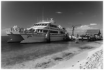 Yankee Freedom Ferry. Dry Tortugas National Park, Florida, USA. (black and white)