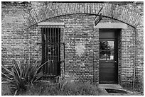 Visitor Center. Dry Tortugas National Park ( black and white)