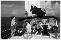 Sailing in the Gulf. Dry Tortugas National Park ( black and white)