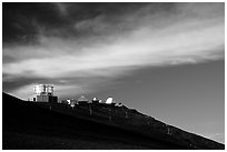 Observatory atop Red Hill. Haleakala National Park, Hawaii, USA. (black and white)