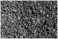Ground close-up with multicolored lava, Mauna Loa. Hawaii Volcanoes National Park ( black and white)