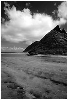 Ofu Island seen from the Asaga Strait. National Park of American Samoa ( black and white)