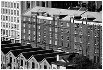 Colonial-era buildings of the Rocks. Sydney, New South Wales, Australia (black and white)