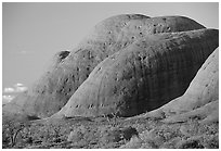 Olgas, sunset. Olgas, Uluru-Kata Tjuta National Park, Northern Territories, Australia ( black and white)