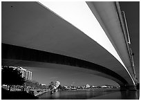 Bridge across the Brisbane River. Brisbane, Queensland, Australia ( black and white)