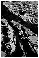 Rock strata in Kings Canyon,  Watarrka National Park. Northern Territories, Australia ( black and white)