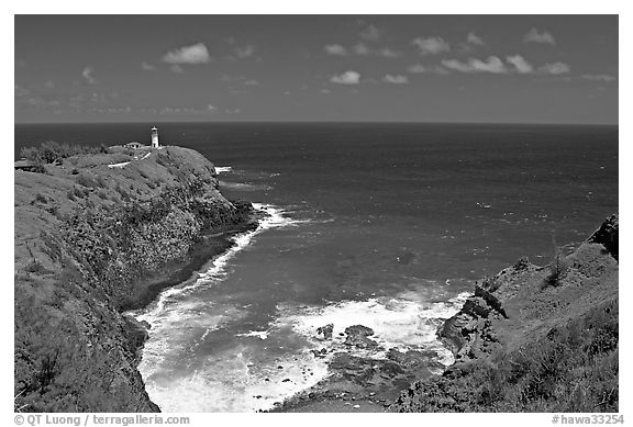 Kilauea Lighthouse and cove. Kauai island, Hawaii, USA