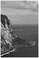 Cliffs near Waipio Valley. Big Island, Hawaii, USA ( black and white)