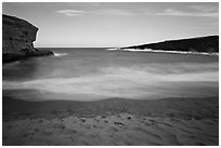 Mahana Beach. Big Island, Hawaii, USA ( black and white)