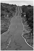 Pilani Highway. Maui, Hawaii, USA ( black and white)