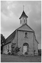St Joseph church, Kaupo. Maui, Hawaii, USA ( black and white)