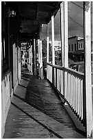 Boardwalk, Pahoa. Big Island, Hawaii, USA (black and white)
