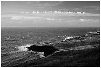 Coastline. Big Island, Hawaii, USA ( black and white)
