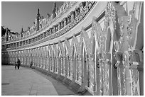 U Min Thonze pagoda, Sagaing. Myanmar ( black and white)