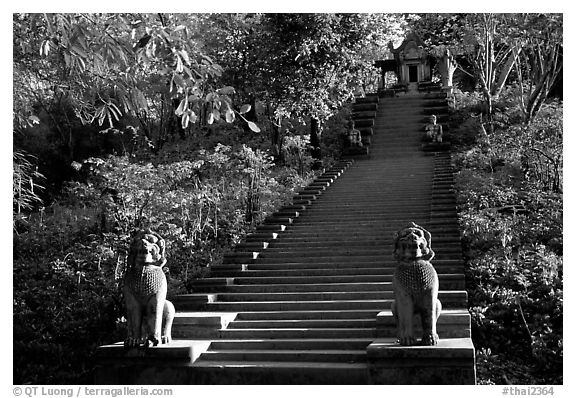 Khmer-style temple of the east. Muang Boran, Thailand (black and white)