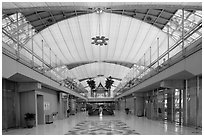 New Bangkok international airport. Bangkok, Thailand ( black and white)