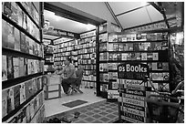 International bookstore, Phi-Phi island. Krabi Province, Thailand ( black and white)