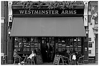 Famous pub Westmister Arms. London, England, United Kingdom ( black and white)