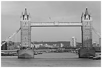 Tower Bridge, late afternoon. London, England, United Kingdom ( black and white)