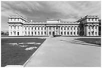 University of Greenwich and Trinity College of Music. Greenwich, London, England, United Kingdom ( black and white)