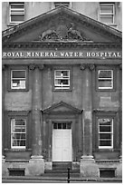 Royal mineral water hospital. Bath, Somerset, England, United Kingdom ( black and white)
