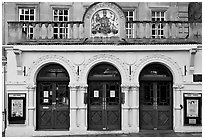 Royal Theatre facade. Bath, Somerset, England, United Kingdom ( black and white)