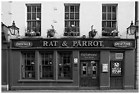 Facade of restaurant and pub. Bath, Somerset, England, United Kingdom ( black and white)