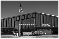Post office. North Pole, Alaska, USA (black and white)