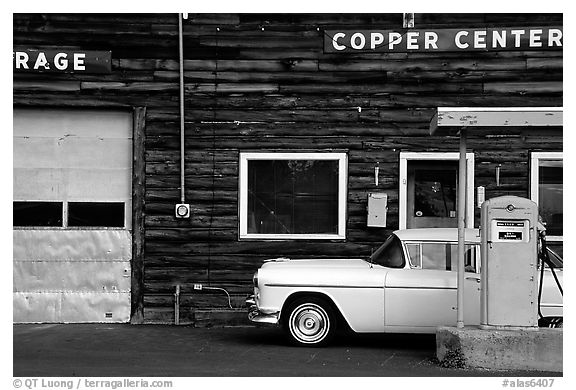 Gas station at Copper Center. Alaska, USA