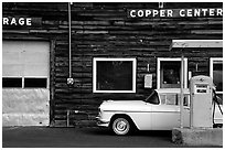 Gas station at Copper Center. Alaska, USA (black and white)