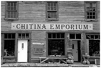 Chitina Emporium. Alaska, USA (black and white)